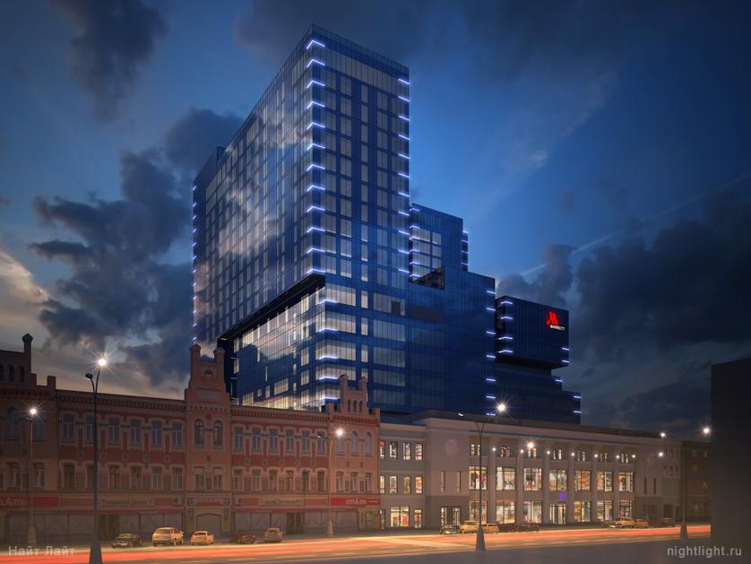 Возведение здания гостиницы Marriott в Воронеже