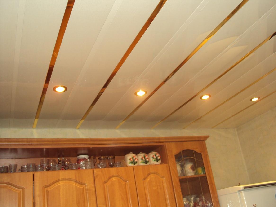 Ремонт потолков на кухне