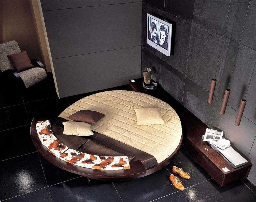 Круглый матрас: оригинальное решение для тех, кто решил обновить дизайн спальни